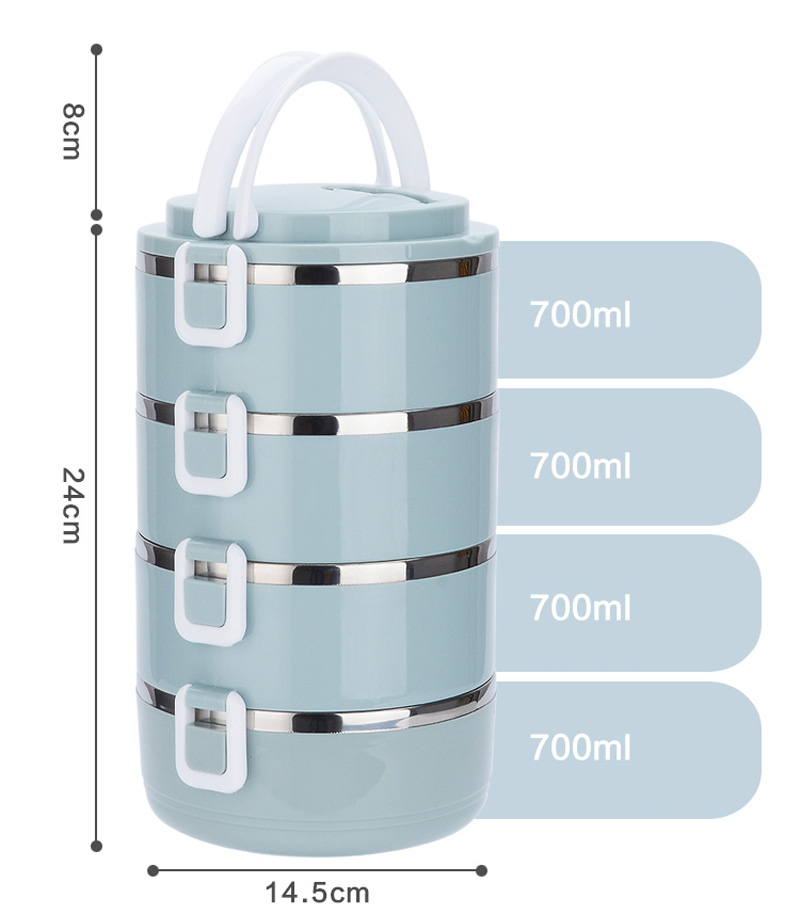 4 Layer Portable Stainless Steel Lunch Bento Boxs Japanese Style Fruit Food Storage Container For Kid School Camping Travel Sets15