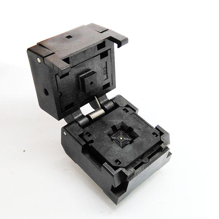 QFN32 MLF32 Burn in Socket IC Test Socket IC550-0324-007-G Pitch 0.5mm Chip Size 5*5 Flash Adapter Clamshell Programming Socket<br><br>Aliexpress