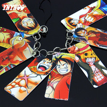 YNYNOO Anime Cards One Piece Luffy 8Pcs/ string Set 2*5cm PVC Cards Pendant Toys Luffy Cards Figure For decor phone Chain Toys