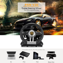 PXN V3II Racing Game Steering Wheel USB Vibration Dual Motor with Foldable Pedal Game Controller for PC PS3 PS4 Xbox One PK V18S(China)