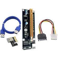 overmal 2 layer PCB board design PCI-E Express Powered Riser Card W/ USB 3.0 extender Cable 1x to 16x Monero SATA Power Cable(China)