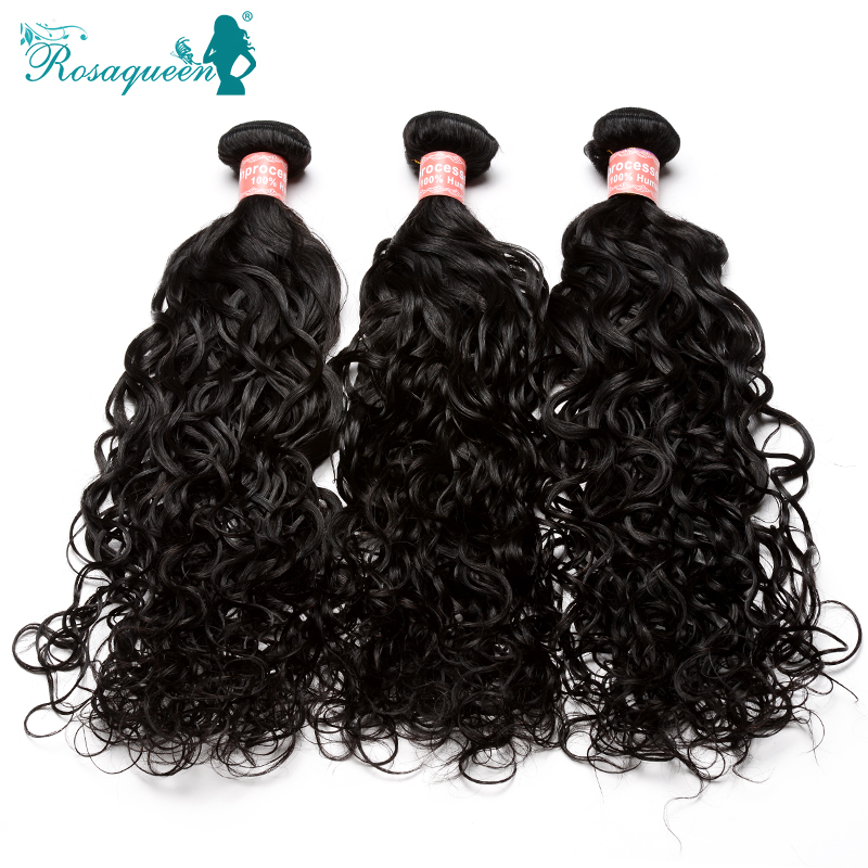 6A Peruvian Virgin Hair Water Wave 3Pcs/Lot Peruvian Water Wave Rosa Queen Hair Products Wet And Wavy Human Hair Extensions<br><br>Aliexpress