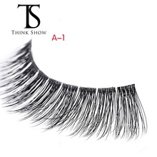 3 Pair 3D Eye lash Handmade Natural 3D Mink fake Lashes False Eyelashes Quality Thick Eyelash Extension Makeup Tools(China)