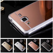 Phone Case For Samsung Galaxy J3 Luxury Rose Gold Mirror Soft TPU Mirror Back Cover For Samsung Galaxy J3 2016 j320 capa