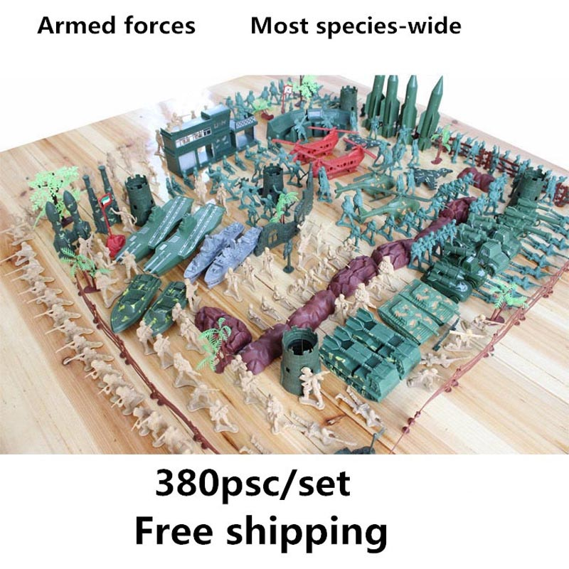 Sea and air Soldiers military model 380pcs/set Sand table model Boy Classic Toys Cultivate mindfulness Send their children gifts<br>