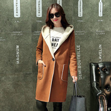 Cotton-Padded Jacket Female Nnew Lambs Wool Coat Winter Jacket Women Long Coat Hooded Fashion Parkas Women's Clothing Tops C1671
