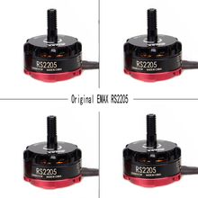 4pcs Original Emax RS2205 2300KV 2600KV Cooling Brushless Motor Quad FPV QAV250 Drone CW/CCW (Black Prop Nut) RS2205