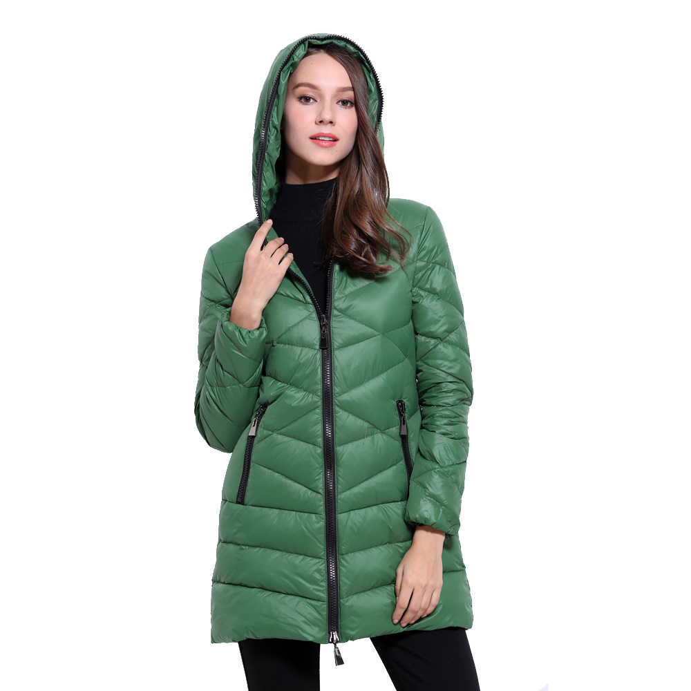 2017 Winter Women Zipper Hooded Down Women in the long section of thin winter jacket down jacketОдежда и ак�е��уары<br><br><br>Aliexpress