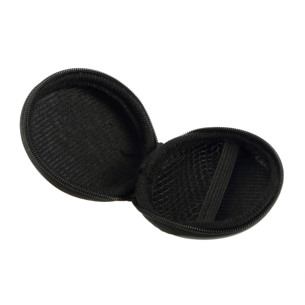 2018 New Arrival 1Pcs Durable Hold Case Black Storage Bag Carrying Hard Bag Box for Earphone Headphone Earbuds Card Easy Travel