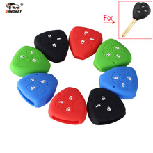 DANDKEY New Silicone Key Cover Case For Toyota Camry COROLLA Vios REIZ CROWN RAV4 3 Buttons Car Key(China)
