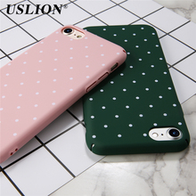 Buy USLION Phone Case iPhone 7 7 Plus 6 6s Plus Fashion Simple Wave Point Hard PC Full Protect Shockproof Phone Case Cover Bags for $1.42 in AliExpress store