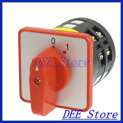 Ui380V Ith 5A 0-1 Positions 12 Screw Terminals Changeover Switch<br><br>Aliexpress