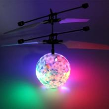 RC Flying Ball Toy RC Drone Helicopter Ball Built-in Shinning LED Lighting for Kids Teenagers Colorful Flyings Kids Toys(China)