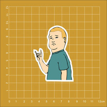 King of the Hill Bobby Hill Notebook refrigerator skateboard trolley case backpack Tables book PVC waterproof Car sticker