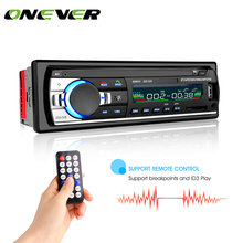 Bluetooth Car Stereo Audio In-Dash FM MP3 Radio Player with AUX-IN SD USB DC 12V USB MP3 MMC WMA FLAC Car Radio Player(China)