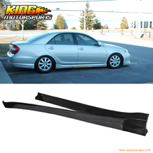 For 2002 2003 Vip Style Black Poly Urethane Side Skirts Pair For Toyota Camry