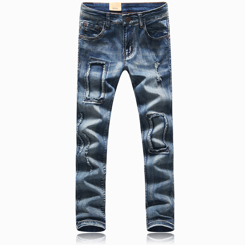 2017 new Mens hole Jeans mens clothing trend slim small trousers male casual trousers plus-size size 29-34 606 P75Одежда и ак�е��уары<br><br><br>Aliexpress