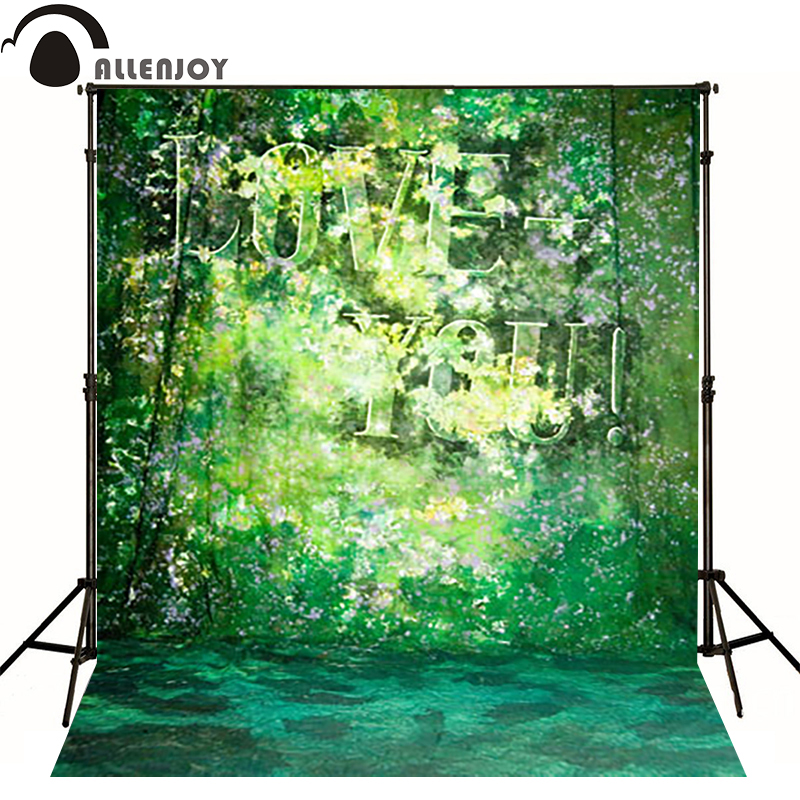 Allenjoy vinyl backdrops for photography love you flower green hazy photo background baby kid photocall cute 10x10<br><br>Aliexpress