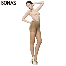 Buy BONAS 30D Cheap Tights Women Fashion Slim Brown Sexy Nylons Pantyhose Seamless Solid Color Designer Lolita Elasticity Pantyhose