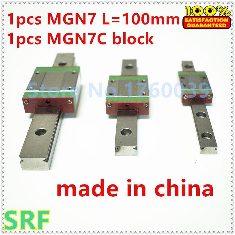 7mm width 1pcs Mini linear rail MGN7 L=100mm Miniature linear guide way +1pcs MGN7C Block Carriage for 3D Printer<br><br>Aliexpress