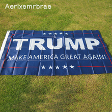 Free Shipping trump Flag NEW 90x150cm Donald Trump Flag 2016 Make America Great Again Donald for President USA(China)