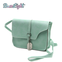 Bomlight Candy Color Mini Flap Fashion Women Shoulder Bags Faux Leather Satchel Crossbody Tote Handbag For Girl Bolsas Feminina(China)