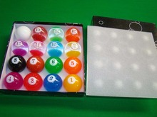 16pcs/box 57.25MM 2 1/4 Transparent Complete Set of Balls Billiard Cue Ball 8/9 Ball Pool Table Accessories