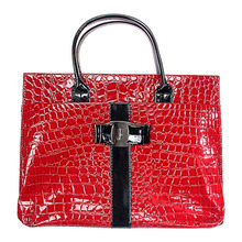 fashion Crocodile women shoulder bag Retro Pack women solid hard dress handbag PU leather bags tote bags high quality