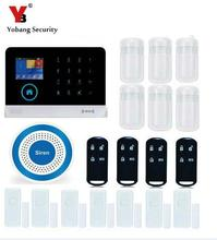 Yobang Security APP Control House Office Burglar Intruder Alarm With RFID Card Wireless WIFI GSM Alarm System With 24-hour zone