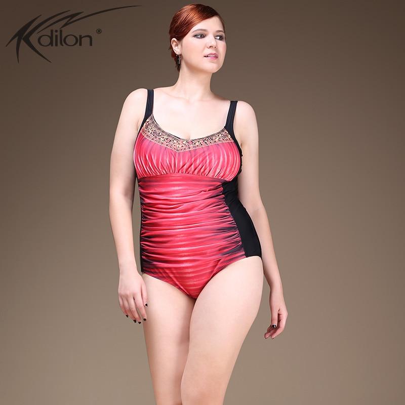 2016 Jungle Print Gradient Swimsuit plus size bathing suits Vintage One Piece Swimwear women large size swimwear female <br>