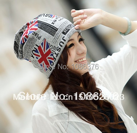 2013 Perfect girl outside sport  hip-hop English flag cap fashion turban windproof warm hat 2color 1pcs brand new arriveОдежда и ак�е��уары<br><br><br>Aliexpress