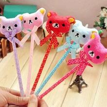 Shoes Woman School Office Stationery Supplier Cute Plush Cartoon Animal Bear Bow Ballpen Ballpoint Pen Gift 24pcs/lot Arc733