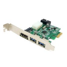 30 pieces/lot External 2 Port USB 3.0 & Power Over Esata & 19pin USB Header Combo Pci-e PCI Express Card