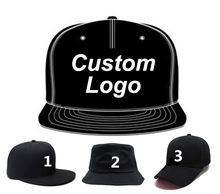 LOGO Custom Embroidery Hats Baseball Snapback Cap Custom Cotton Cap Adjustable Hip Hop Fitted Full closure Hat