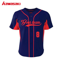 Kawasaki Classic Hip Pop Style Baseball Short Praciece Jersey Custom Mens 100% Polyester Fans Team Wear Softball Top Jerseys