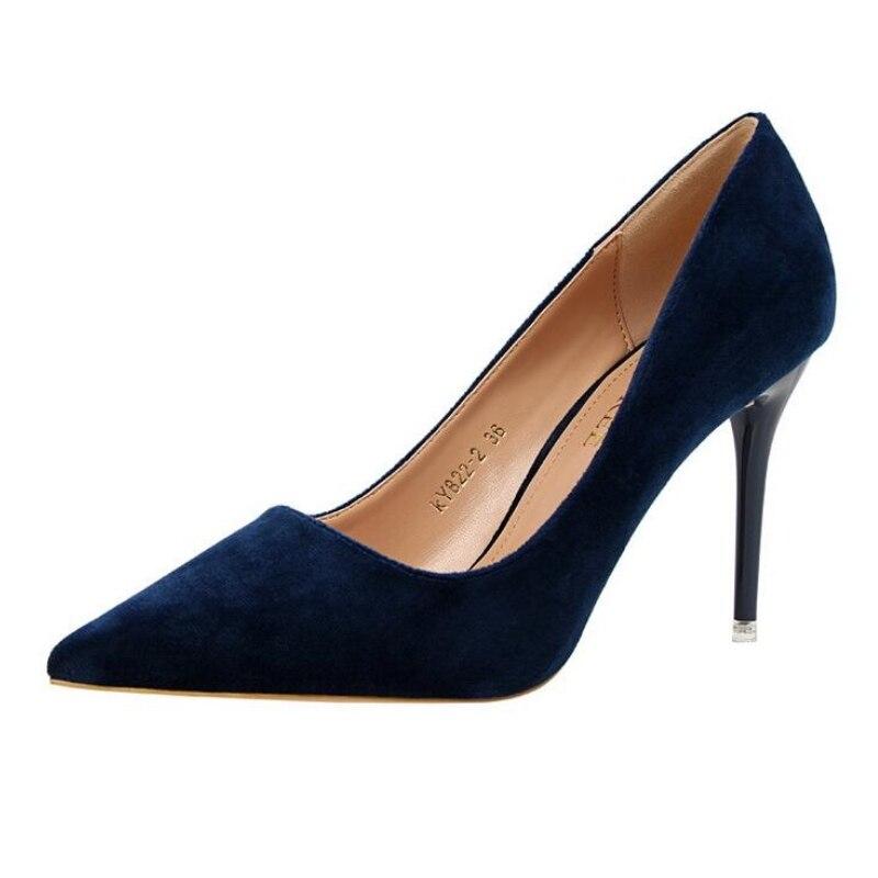 High quality Fashion Sexy Pointed Toe Women Pumps Platform 9.5cm High Heels Ladies Wedding Pumps Party Shoes elegant  shoes<br><br>Aliexpress