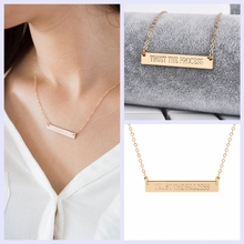 Inspirational Quote Trust The Process Stainless Steel Bar Necklace Choker Necklace Fashion Jewelry(China)