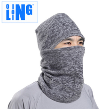 QILOING Windproof winter ski mask balaclava motocryle full face mask snow hat cap warm outdoor cycling sport Thermal Retention(China)