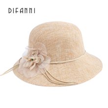 [DIFANNI]New Sun Hats For Women Fashion Lady Summer Visor Hat Female Beach Cap Prevention Of Ultraviolet & Flower Design Hat