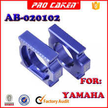 Pair CNC Rear axle Slider blocks Spindle Chain Adjuster for yamaha YZ250F YZ450F dirtbike offroad motorcycle parts accessories(China)