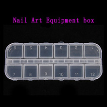 Nail Art Decorations Storage Box Gems Glitter Empty Rectangle Rhinestones Beads Slices Compartments Container Case