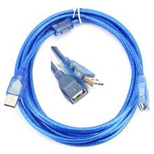 2.0 USB Extension Cable 0.3M 0.5M 1.5M 3M 5M Copper Male to Female USB Adapter Dual Shielding Transparent USB 2.0 Cable