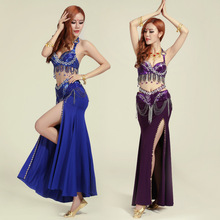 Belly Dance Dress Bollywood Dance Costumes Women Paillette  Indian Dance Costumes Belly Dance Performing Exercises Dancewear 16