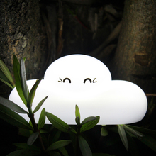 Lumiparty Cute Cloud Shaped Touch Sensor LED Night Light USB Rechargeable Bedside Lamp Baby Room Outdoor Living Room Night Light