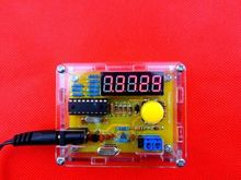 DIY Kits 1Hz-50MHz Crystal Oscillator tester Frequency Counter Meter with case free shipping
