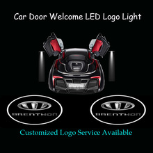 Buy 2x Car Door Welcome Customized BRENTHON Logo Ghost Shadow Spotlight Laser Projector Puddle LED Light, 1294 for $28.88 in AliExpress store