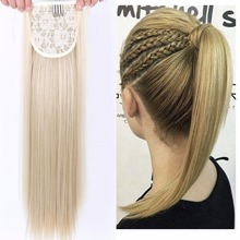 "Buy 22"" Silky Straight Synthetic High Temperature Fiber Drawstring Ponytail Hair Pieces Women DIFEI for $6.10 in AliExpress store"