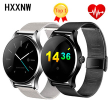 K88H Smart Watch IOS Android Heart Rate Monitor Watch 1.22 Inch IPS Round Screen Bluetooth SmartWatch For iphone 7 huawei Millet(China)