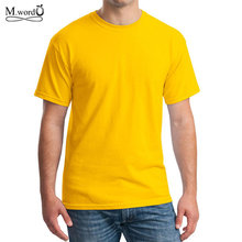 Buy High brand o-neck summer Men t shirt short sleeve solid color 100% cotton T shirt Casual mens T shirt Tees for $5.22 in AliExpress store