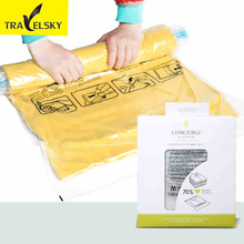 Compression packing bags big size for Coat Clothes PVC material dustproof reducing space for travel luggage 3 pcs / lset 13764(China)